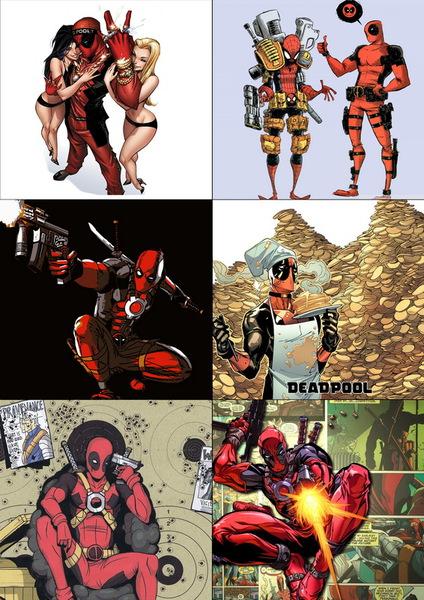 Набор наклеек Дэдпул/Deadpool №1