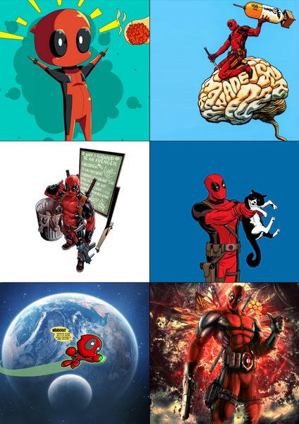 Набор наклеек Дэдпул/Deadpool №2
