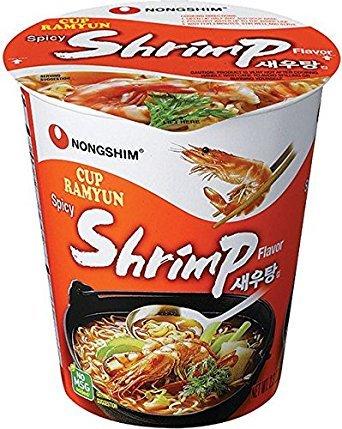 """Лапша быстрого приготовления """"Nongshim Seawootang Cup"""", со вкусом креветки"""