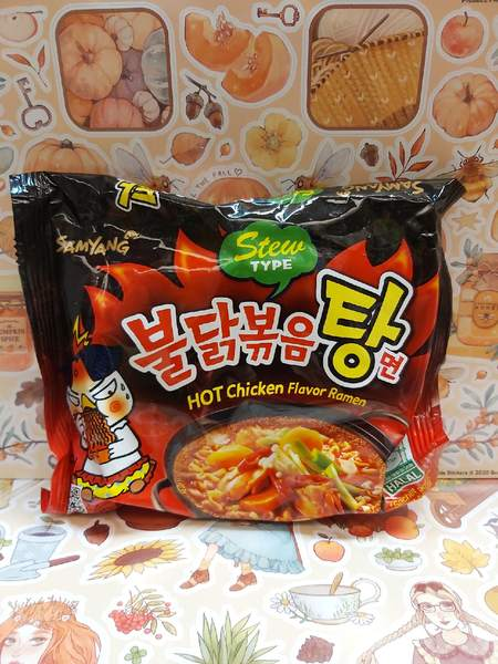 """Лапша быстрого приготовления """"Hot chicken flavor ramen"""" со вкусом острой курицы"""