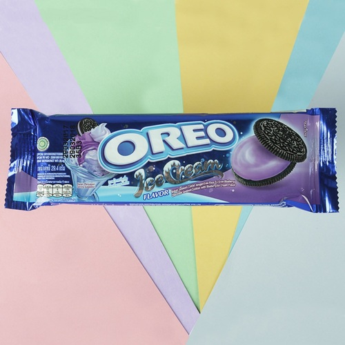 Печенье oreo со вкусом черничного мороженого (мини)