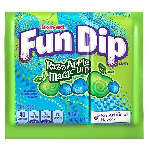 Конфета с шипучкой Fun Dip со вкусом яблока и голубой малины