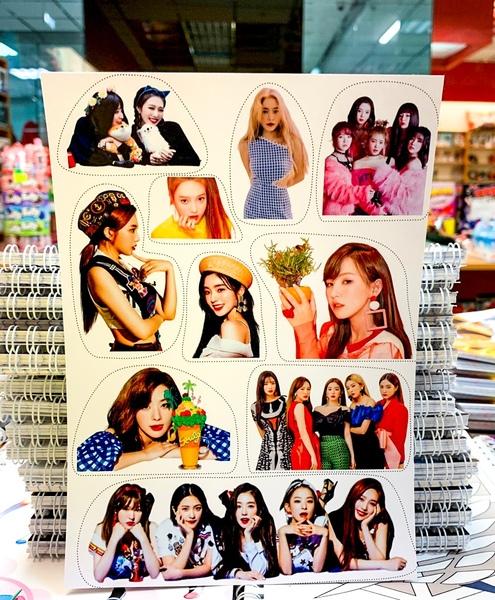 Лист наклеек Red Velvet