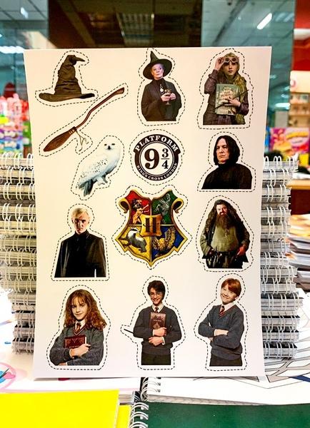 Лист наклеек Гарри Поттер / Harry Potter