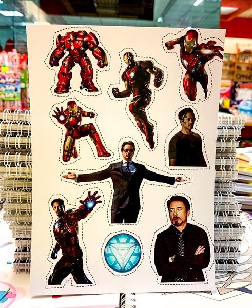Лист наклеек Железный человек / Iron Man
