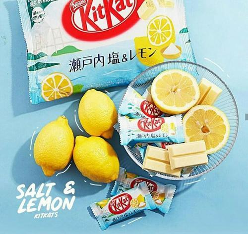 Шоколад Kit Kat со вкусом лимона с солью