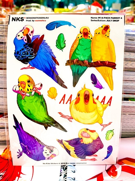Mini Pack Parrots 1