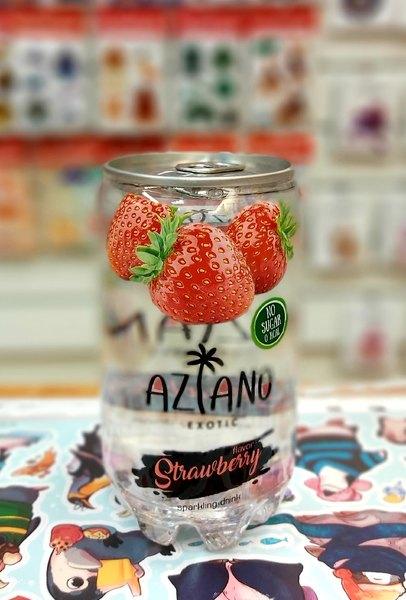 Газированный напиток Aziano Strawberry