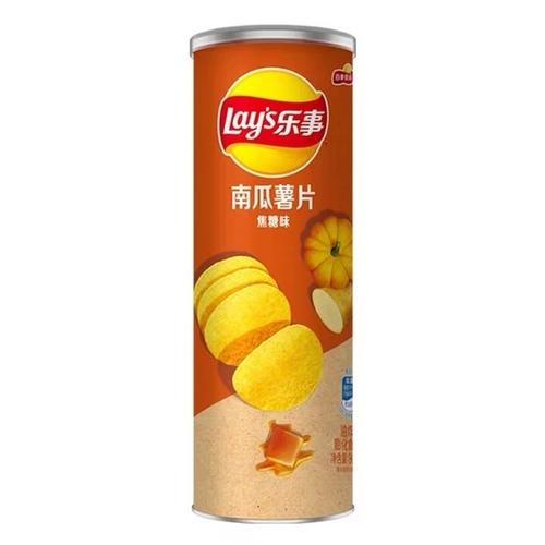 Чипсы Lay's stax из картошки и тыквы со вкусом карамели