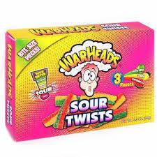 Конфеты Warheads Twist кислые пластинки