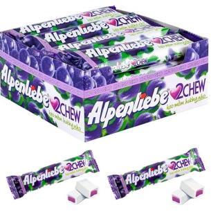 Жевательные конфеты Alpenliebe с виноградным вкусом