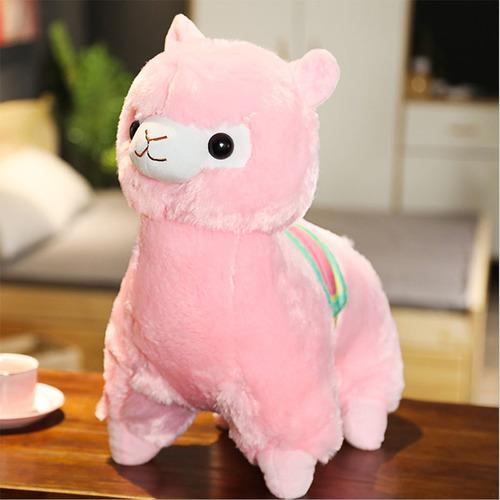 Мягкая игрушка Альпака розовая