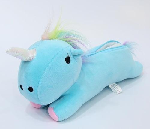 Пенал Единорог/Unicorn голубой