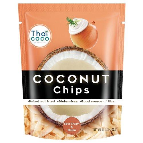 Кокосовые чипсы Thai Coco сметана/лук