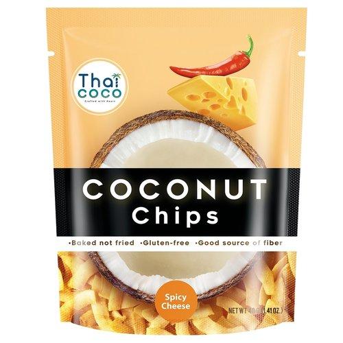 Кокосовые чипсы Thai Coco острый сыр