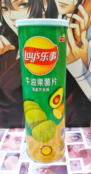 Чипсы Lay's stax из картошки и авокадо со вкусом васаби
