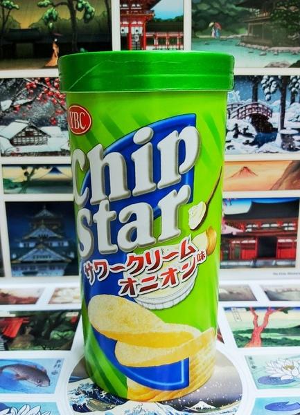 Чипсы со вкусом сметаны и лука (Япония)