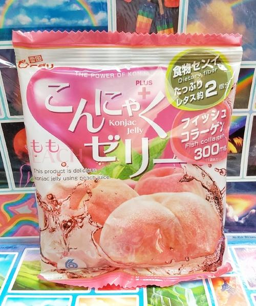 """Желе """"Yukiguni Aguri"""" Конняку со вкусом Персика"""