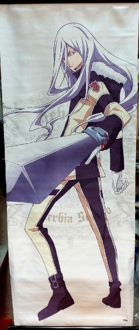 Тканевый плакат Учитель-мафиози Реборн!/Katekyo Hitman Reborn! (Скуало)