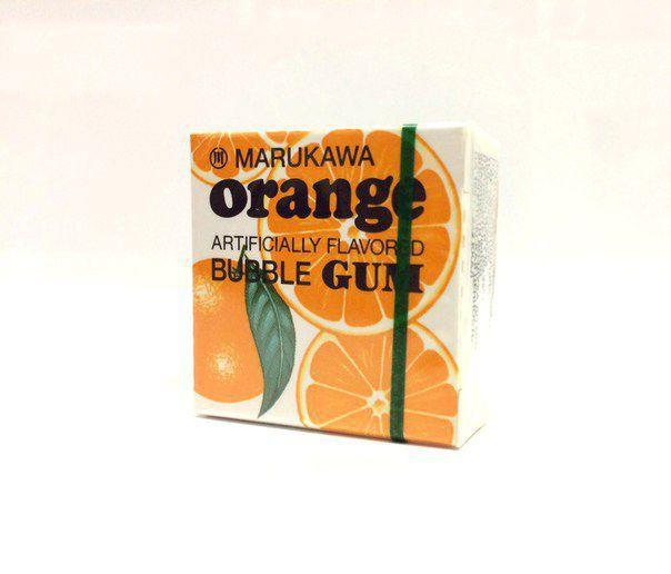 Жевательная резинка MARUKAWA (апельсин)