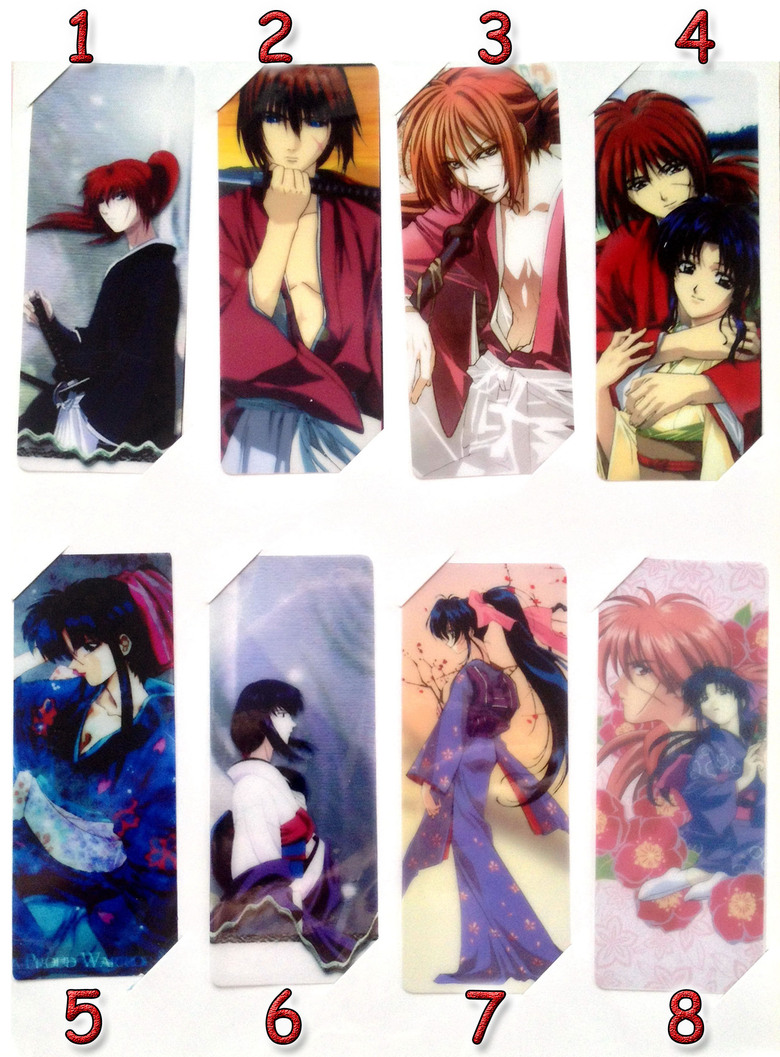 Закладка Бродяга Кеншин (Самурай Х)/Rurouni Kenshin