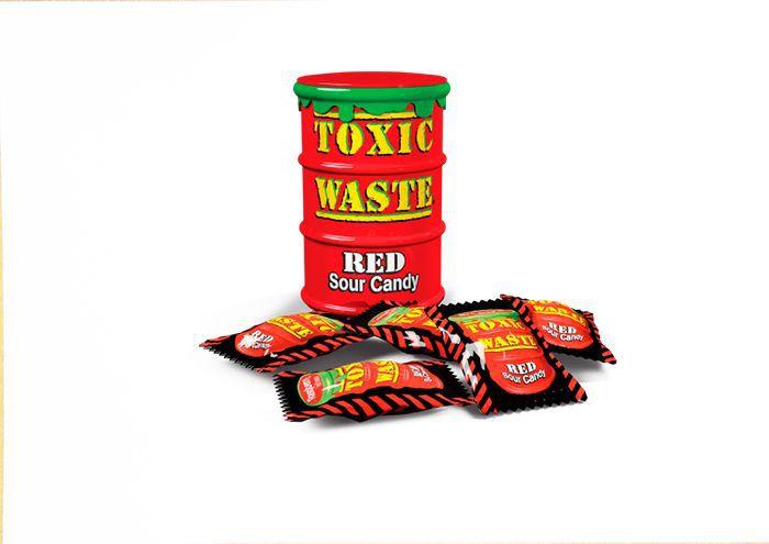 Леденцы Toxic Waste (красная банка)