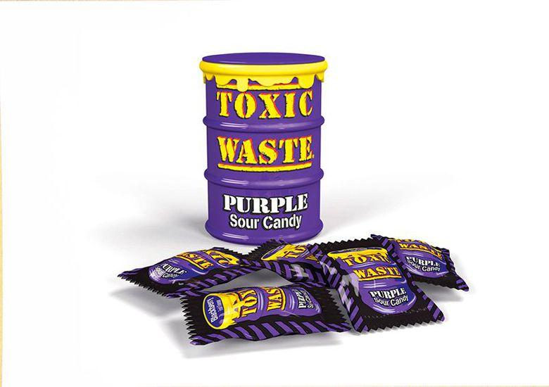 Леденцы Toxic Waste (фиолетовая банка)
