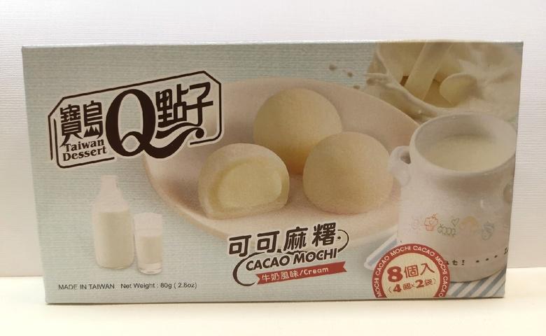 Какао-моти с молоком