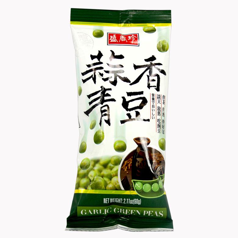 Зеленый горошек с чесноком (средняя упаковка)