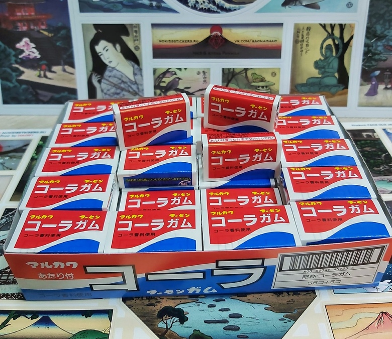 Жевательная резинка Marukawa кола