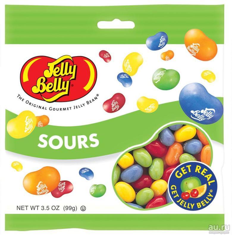 """Jelly Belly Конфеты Jelly Belly """"Кислые фрукты"""""""