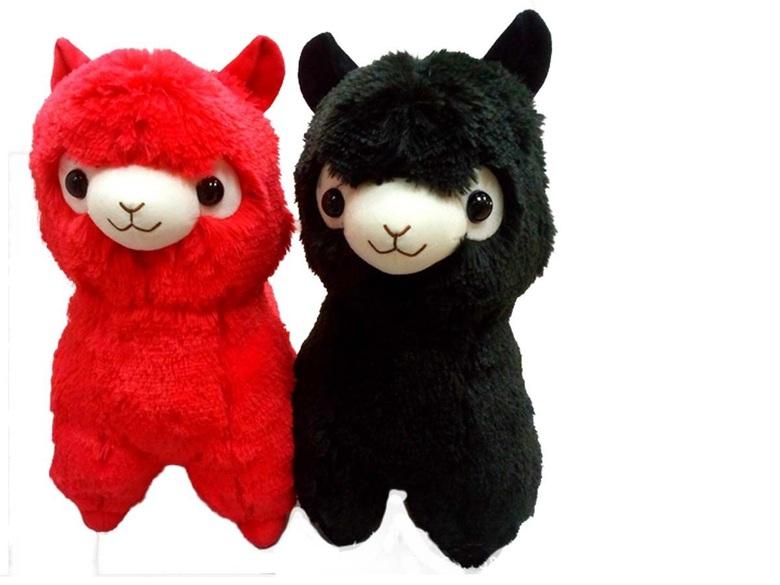 Мягкая игрушка Alpaca/Альпака (красная или черная, 35 см)