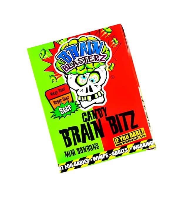 """Конфеты """"Brain Blasterz Bitz"""", со вкусом клубники и яблока"""