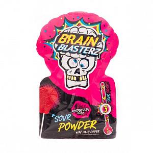 Леденец «Brain Blasterz» с кислым сахарным порошком, малина