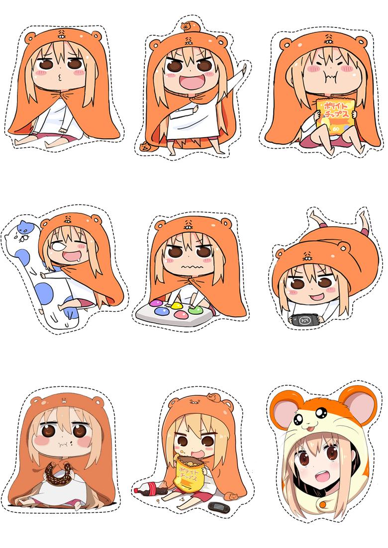 Лист наклеек Двуличная сестрёнка Умару/Himouto! Umaru-chan