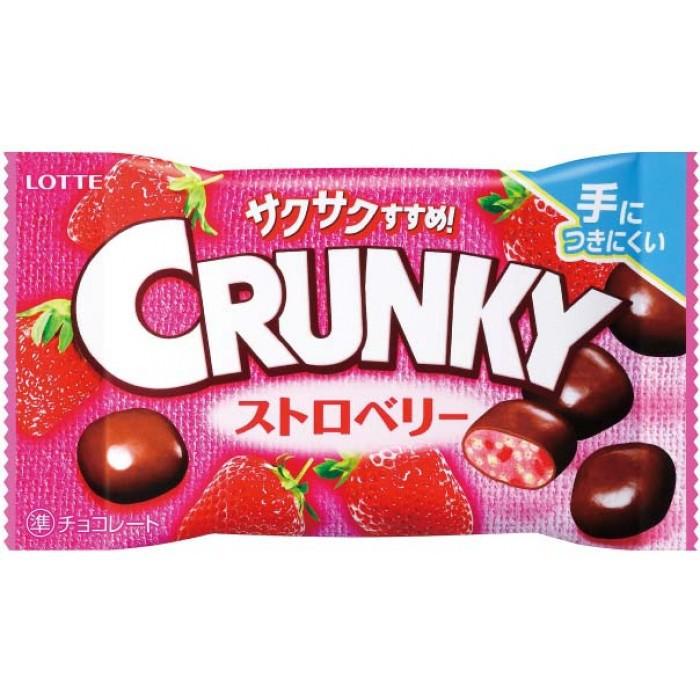 """Хрустящие шоколадные шарики """"Crunky Pop Joy Strawberry"""", со вкусом клубники"""
