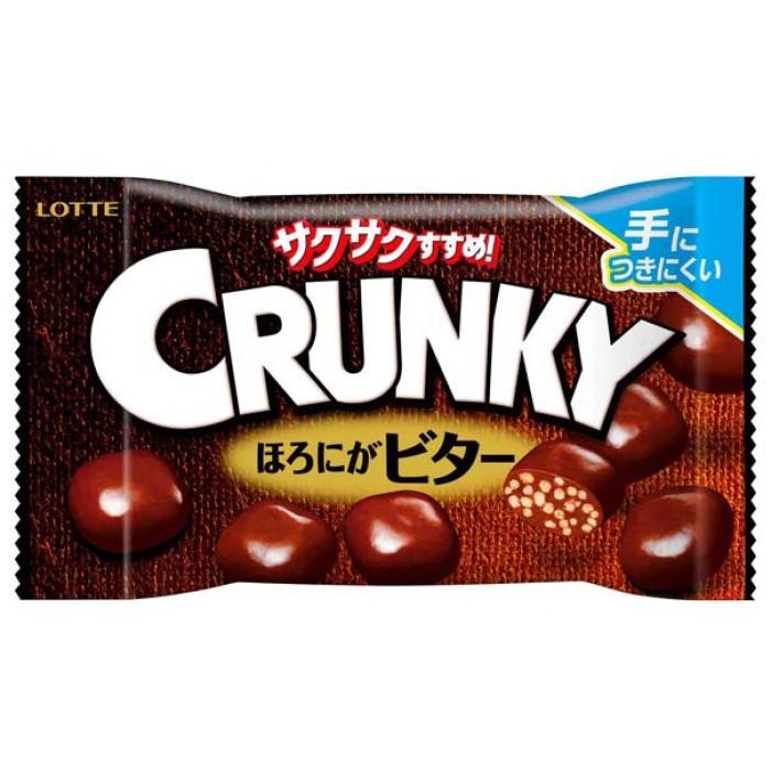"""Хрустящие шарики """"Crunky Popjoy Bitter Chocolate"""", с горьким шоколадом с миндальной пастой"""