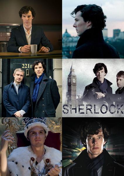 Набор наклеек Шерлок №1