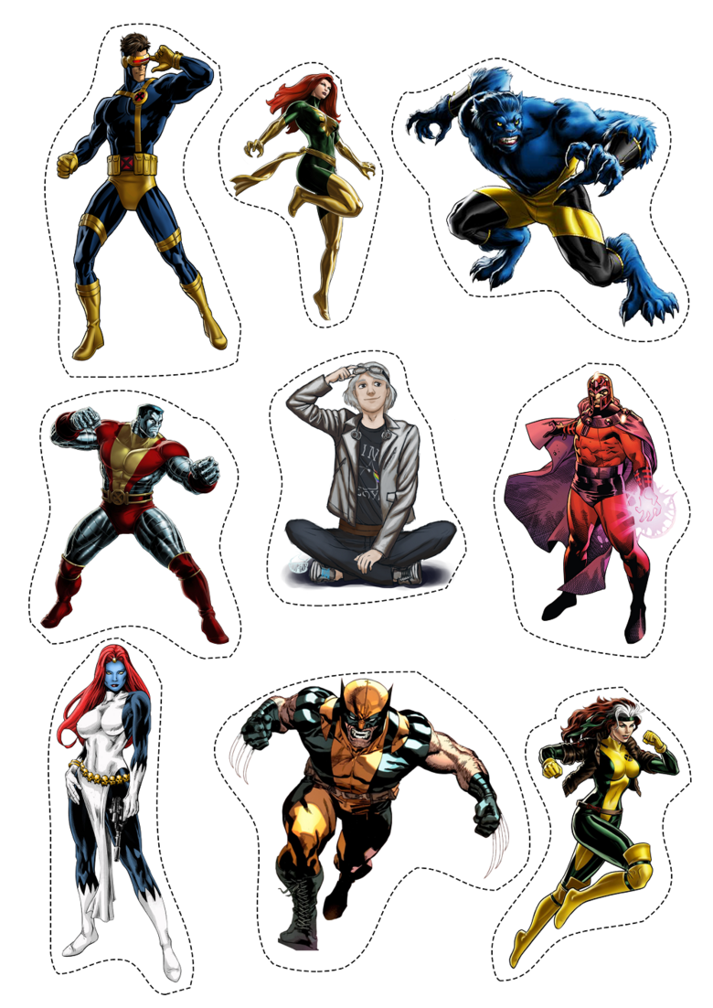 Лист наклеек Люди Икс/X-Men