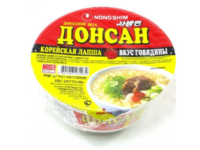 """Лапша быстрого приготовления """"Донсан"""", со вкусом говядины"""