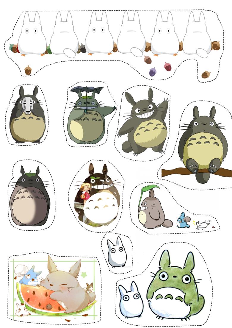 Лист наклеек Totoro/Тоторо