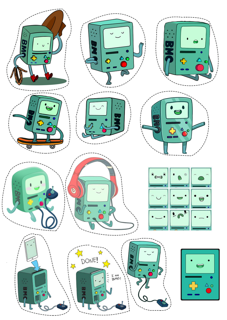 Лист наклеек Adventure Time (BMO)
