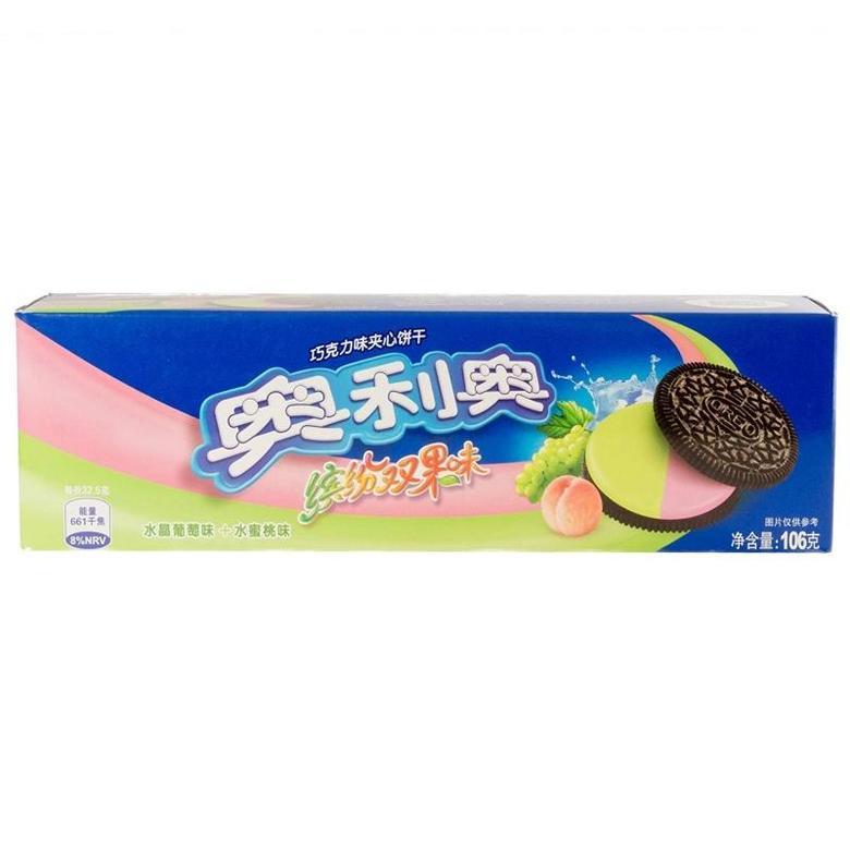 Печенье Oreo со вкусом винограда и персика