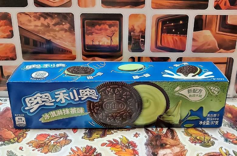 Печенье Оrео со вкусом мороженого и зеленого чая