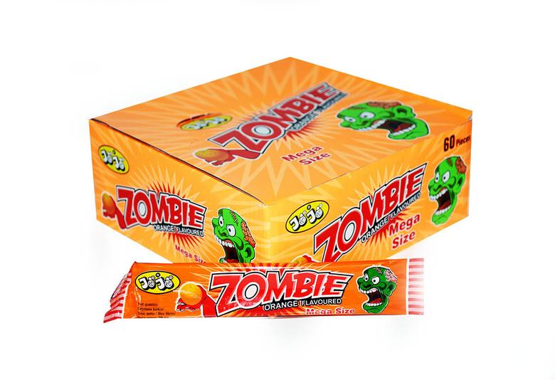 Жевательная конфета Zombie, со вкусом апельсина