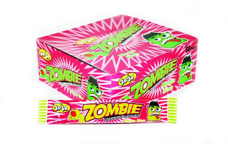 Жевательная конфета Zombie, со вкусом клубники