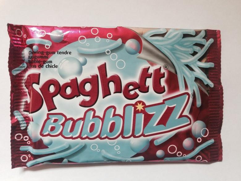 "Жевательная резинка ""Lutti"" спагетти Bubblizz со вкусом тутти-фрутти"