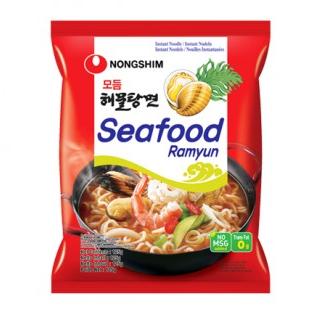 """Лапша быстрого приготовления Nongshim со вкусом морепродуктов """"Seafood Ramuyn"""""""