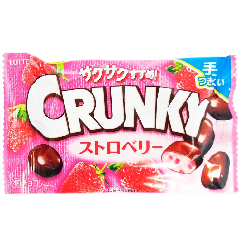"""Хрустящие шоколадные шарики """"Crunky Pop Joy"""" со вкусом клубники"""