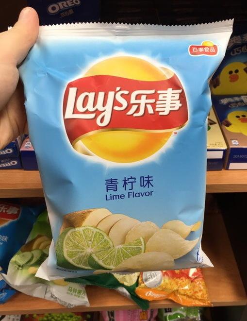 Чипсы Lay's со вкусом лайма